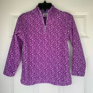 Hanna Andersson Quarter Zip Girl's Pullover-size6X
